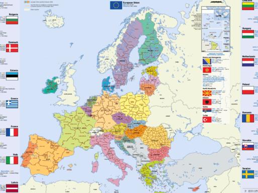 Mapa da UE